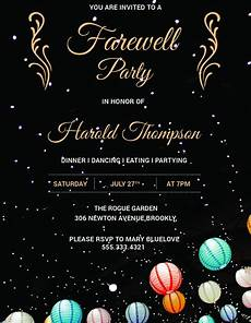 farewell party invitation template 29 free psd format
