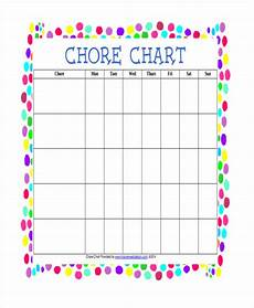 Blank Chore Chart 33 Blank Chart Templates Free Amp Premium Templates