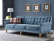 Blue Velvet Tufted Sofa 3d Image by 2018 Blue Velvet Tufted Sofas Sofa Ideas