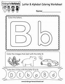 free printable letter b coloring worksheet for kindergarten