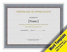 Free Editable Certificate Templates Certificate Of Appreciation Editable Word Template