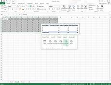 Quick Analysis Tool Excel How To Use The Excel 2013 Quick Analysis Tool Dummies