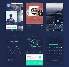 App Ui Fade App Design Ui Kit Flat Style Free Psd Downlaod