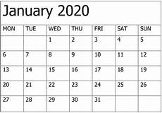 2020 Calendar Free Download Yahoo Free Printable Calendar 2020 That You Can Type In