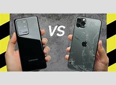 Samsung Galaxy S20 Ultra vs iPhone 11 Pro Max Drop Test
