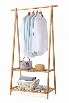 bamboo clothes rack finnhomy bamboo clothes rack portable large garment