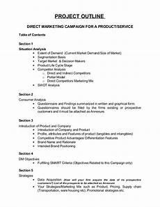 Sample Project Outline Outline Project Dm1