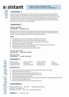 Shop Assistant Cv Template Sales Assistant Cv Example Shop Store Resume Retail