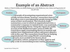 How To Write An Abstract Apa Sample Apa Format Literature Review