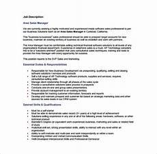 Regional Sales Director Job Description Sales Manager Job Description Template 11 Free Word