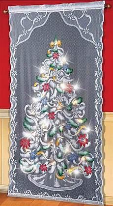 Led Christmas Window Lights Colorful Led Lighted Christmas Tree Window Curtain Panel
