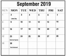 Free Printable September Calendar Free September 2019 Printable Calendar Templates Pdf