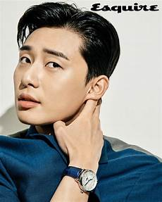 park seo joon models montblanc watches in esquire korea