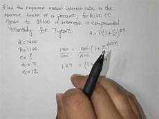Annual Interest Rate Find The Required Annual Interest Rate Compound Interest