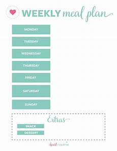 Menu Planner Template Free Printable Weekly Meal Plan Templates I Heart Naptime