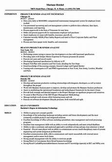 Project Analyst Resume Sample Project Business Analyst Resume Samples Velvet Jobs