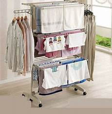 clothes drying hanger egg folding 3 layers clothes airers drying laundry hanger rack