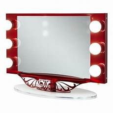 Vanity Girl Hollywood Starlet Lighted Tabletop Vanity Mirror Hollywood Lighted Makeup Mirror Feel The Home