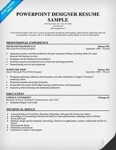Powerpoint Designer Resume Powerpoint Designer Resume Sample Resumecompanion Com