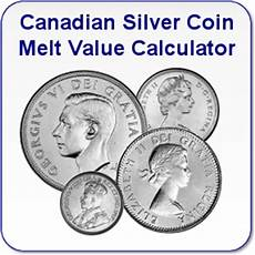 Canadian Nickel Value Chart Canadian Silver Coin Melt Values Single Coins