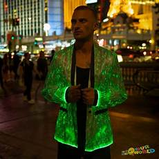 Led Lights To Wear Fiber Optic Clothing Led Light Up Jacket For Men Burning