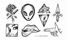 desenho tatuagens conjunto de desenho de tatuagem vintage baixar vector