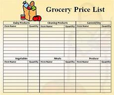 Make A Grocery List With Prices Price List Template 9 Download Free Documents In Pdf