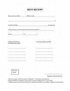 Rent Receipt Format Word Rent Receipt Format