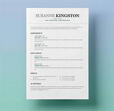 Easy Resume Template Word 25 Resume Templates For Microsoft Word Free Download