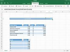 Gpa Calculator Excel Template Excel For Ipad Helps Students Stay On Top Of Their Gpa