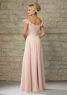 luxe chiffon bridesmaid dress with the shoulder cap