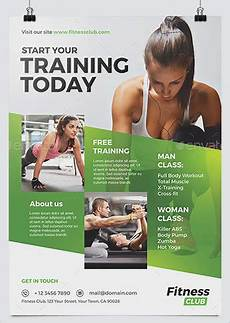 Training Advertisement Template Best Fitness Business Flyers For Gym Marketing Hollymolly