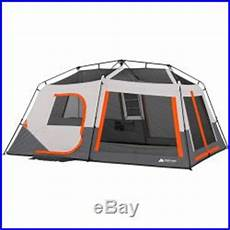 camping tent with built in lights ozark trail 10 person 2 room instant cabin tent led light