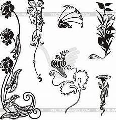 einfache florale ornamente im jugendstil vinyl ready