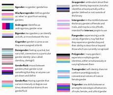 Sexual Orientation Chart A Gender Identity And Sexual Romantic Orientation Chart