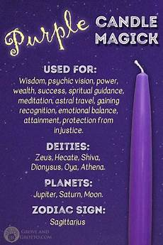 Light Green Candle Meaning Purple Candle Magick Grove And Grotto