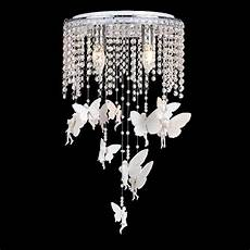 Baby Girl Room Light Fixtures 2019 White Crystal Angel Girls Room Ceiling Lamps Romantic