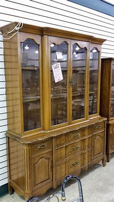 before and after china cabinet rescue restore redecorate