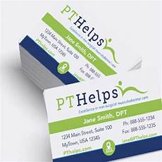 Physical Therapist Business Cards Business Cards For Physical Therapists Free Design For