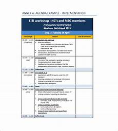 Programme Itinerary Template Training Agenda Template 8 Free Word Excel Pdf Format