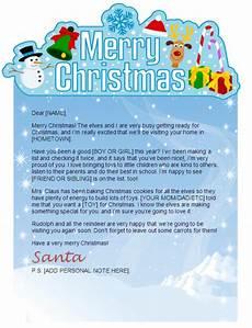 Merry Christmas Letter Sample Printable Santa Letters