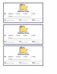 Hall Pass Template Free Hall Passes For School Teacher Printables School