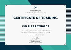 Certificate Of Training Template Free Free Company Training Certificate Template In Psd Ms Word