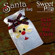 embroidery ideas in the hoop santa gift bag
