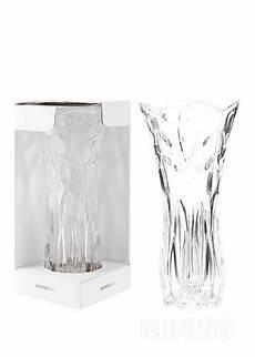 leaves pattern vase transparent