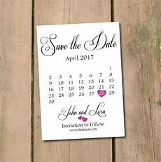 Save The Date Calendar Save The Date Calendar Template Save The Date Postcard