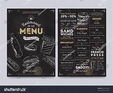 Breakfast Menu Layout Fast Food Menu Cover Layout Breakfast Stock Vector