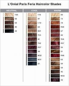 Feria Hair Colour Chart L Or 233 Al 174 Paris Feria Multi Faceted Shimmering Pe