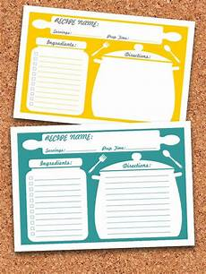 Free Printable Recipe Cards Recipe Cards Printable Editable Instant Download