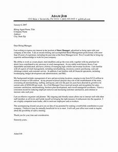 Cover Letter Retail Manager Retail Manager Cover Letter Examples